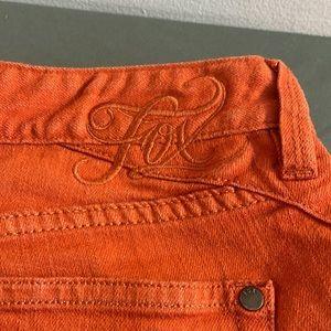 Fox Jeggings Orange Size 28 Skinny Jeans